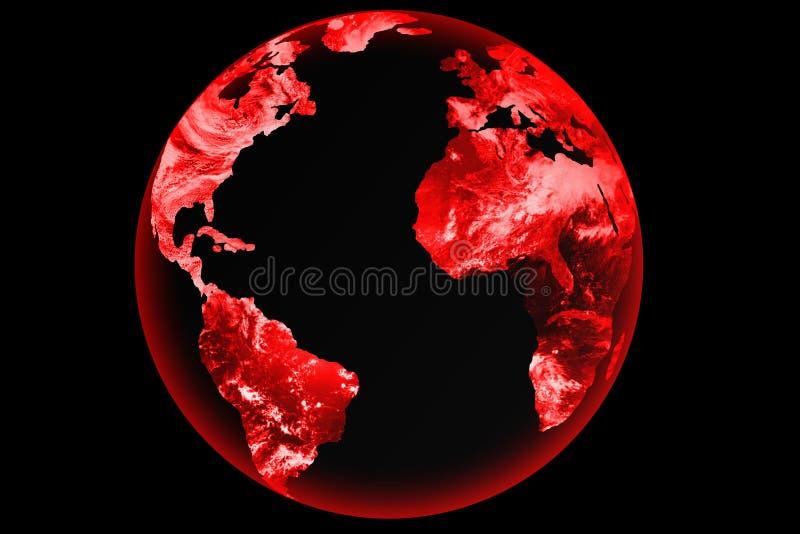 De bol van de wereld grunge royalty-vrije illustratie