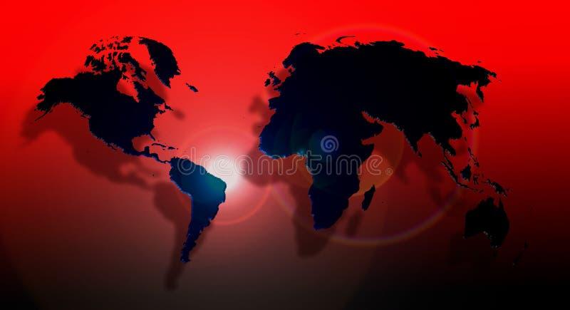 De Bol van de wereld op een grid3 royalty-vrije illustratie