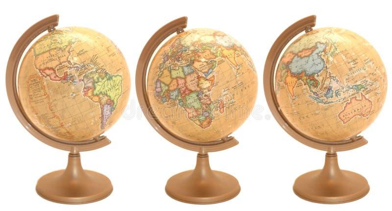 De bol van de wereld in poetsmiddeltaal royalty-vrije stock afbeeldingen
