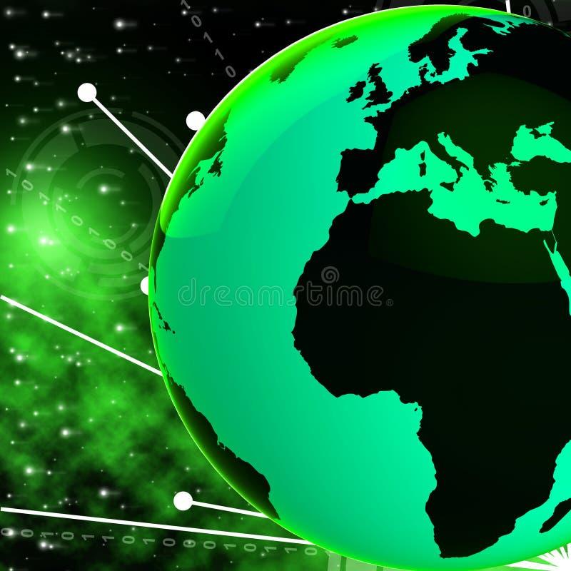 De Bol van Europa Afrika betekent de Planeet en Afrikaan van het Land stock illustratie