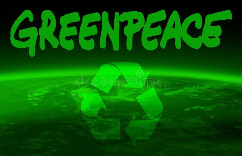 De bol van Greenpeace en van de wereld royalty-vrije illustratie