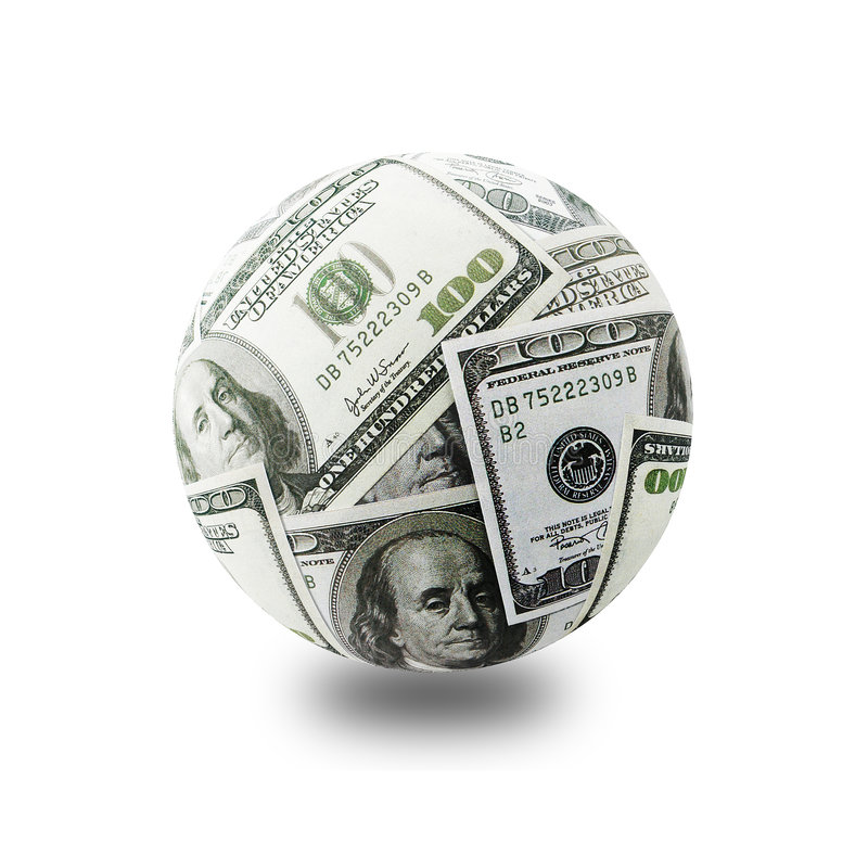 De bol van het geld stock fotografie