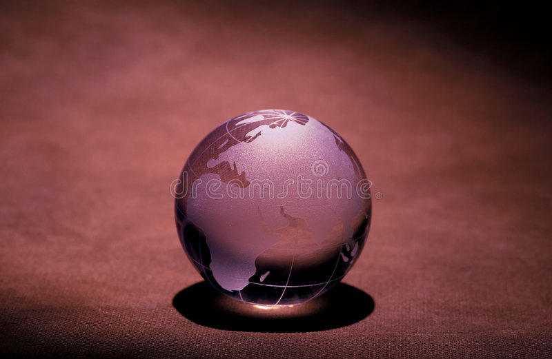 De Bol van het glas stock fotografie