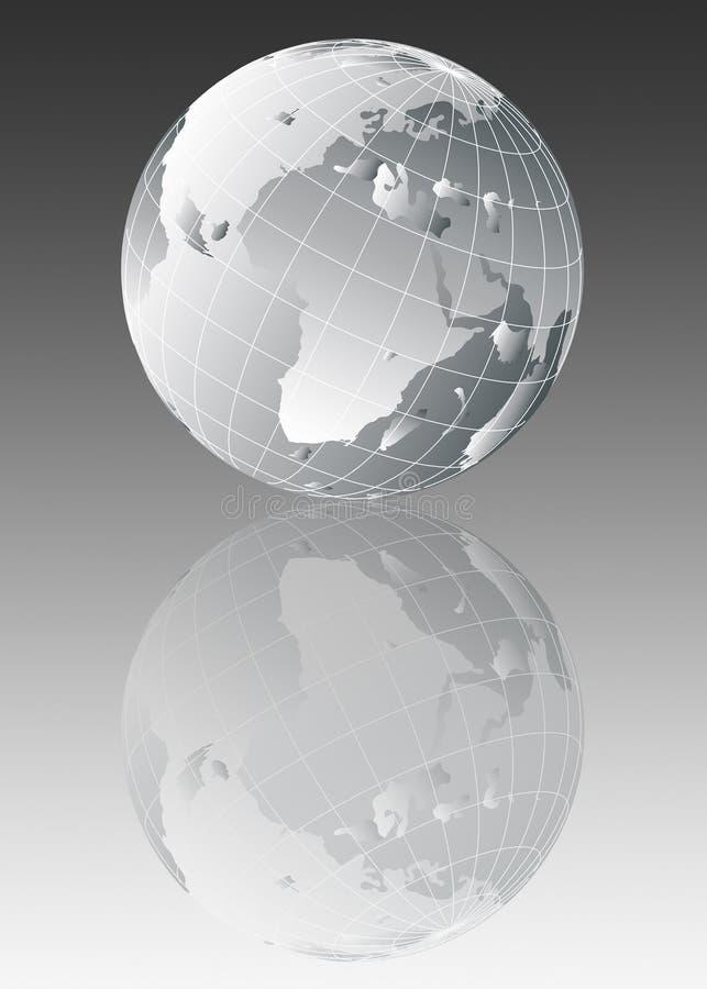 De bolillustratie van de aarde royalty-vrije illustratie