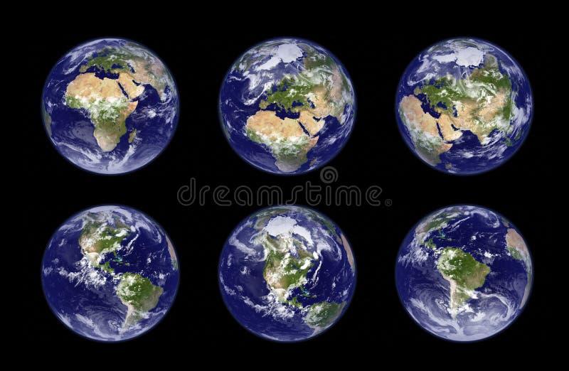 De bolillustratie van de aarde vector illustratie