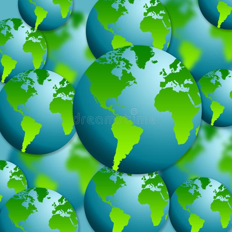 De bollen van de aarde vector illustratie