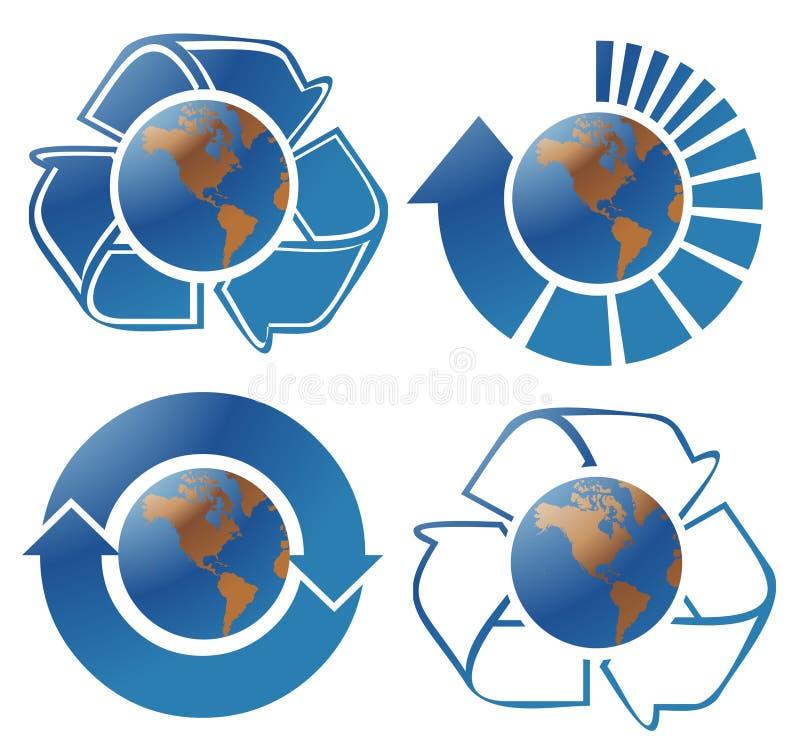 Ecologiebollen vector illustratie