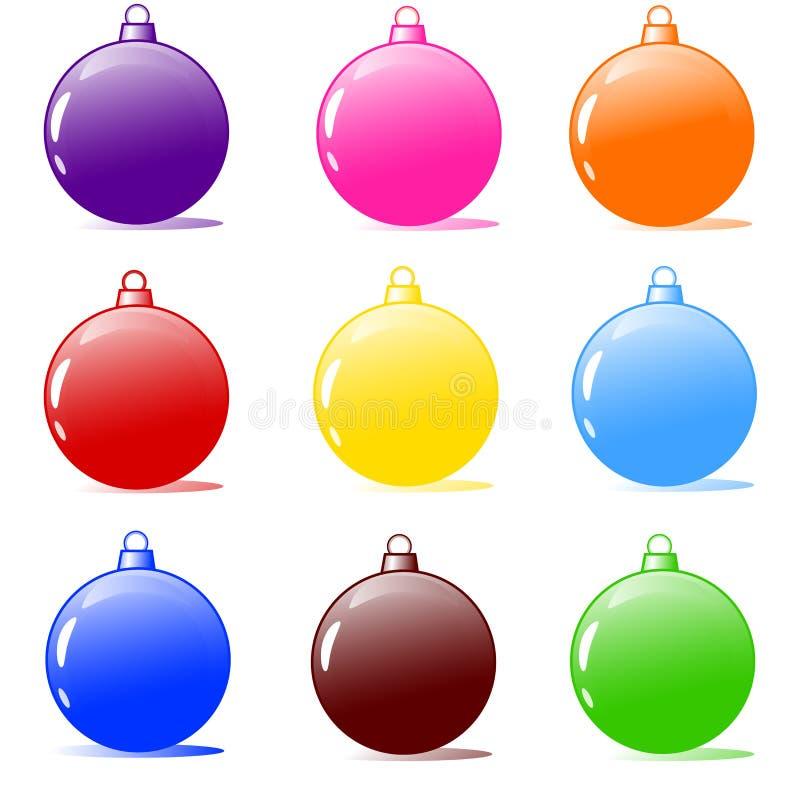De bollen van de kerstboom stock illustratie
