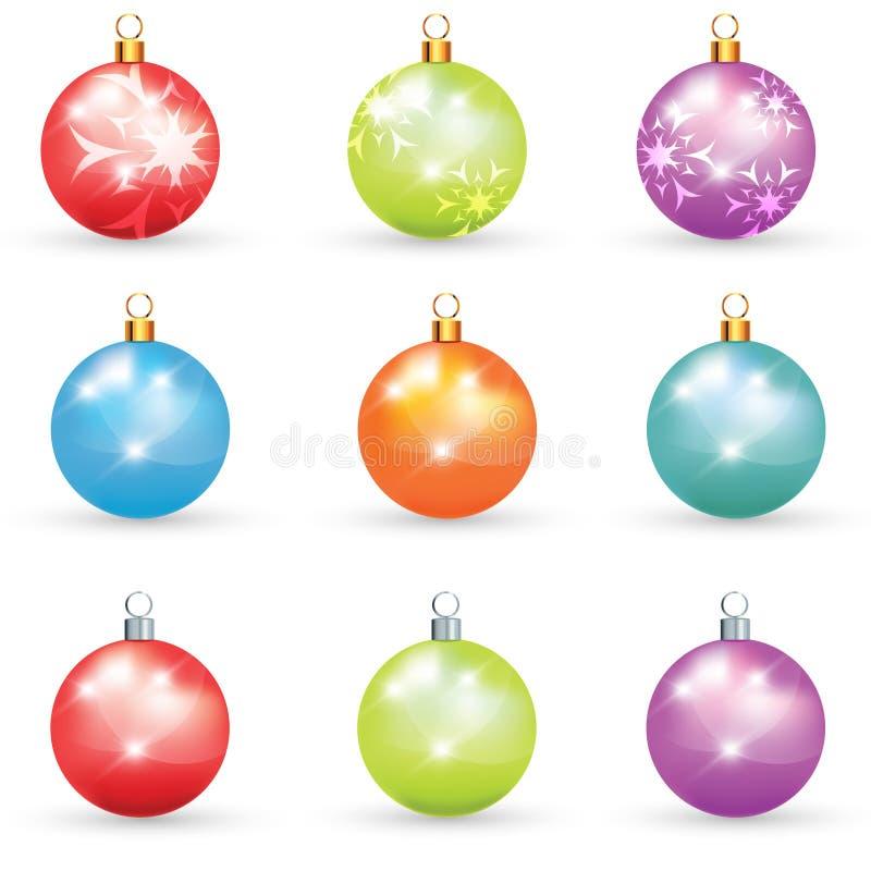 De bollen van Kerstmis vector illustratie
