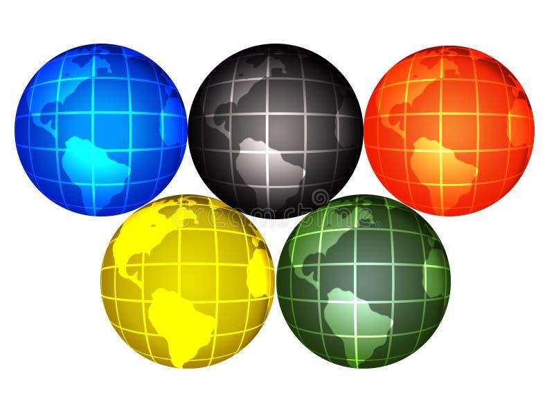 De bollen van Olimpic stock afbeeldingen