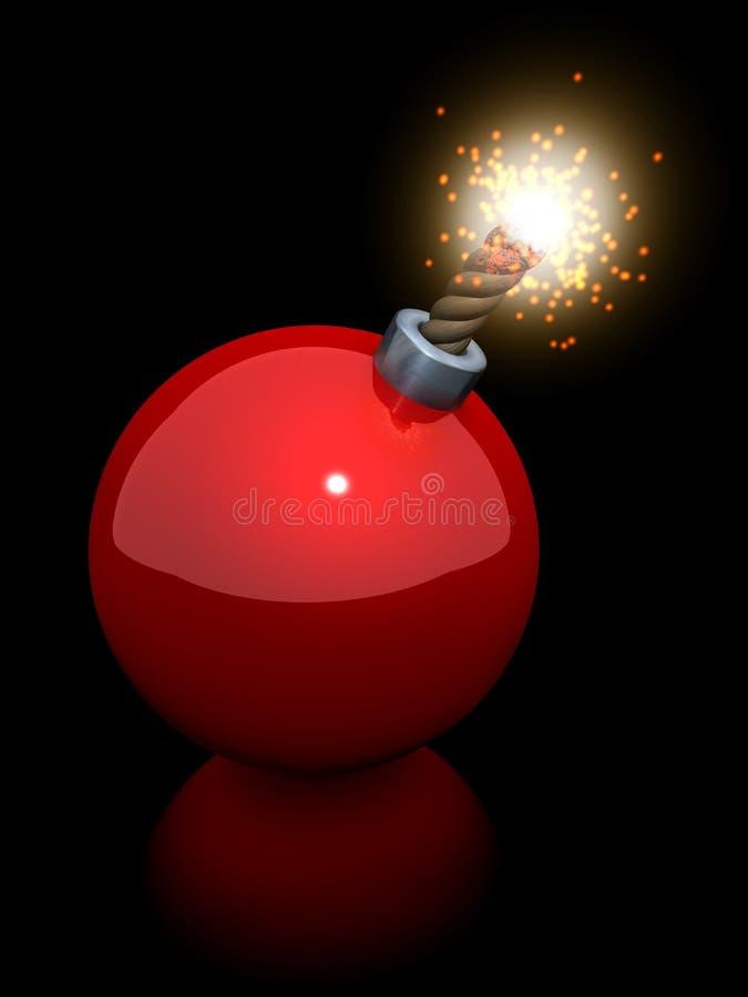 De bom van de kerstboombal stock illustratie