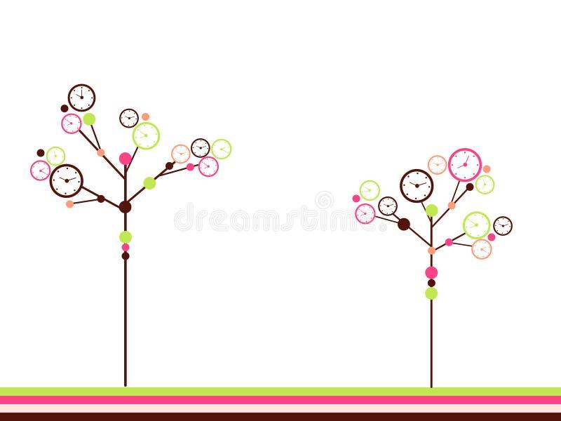 De bomen van de klok royalty-vrije illustratie