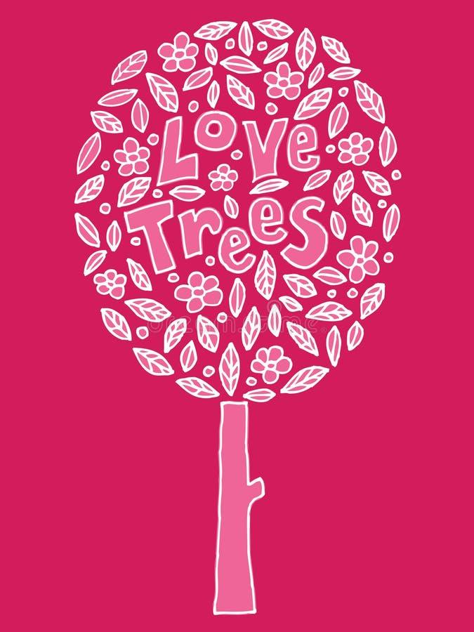 De bomen van de liefde vector illustratie
