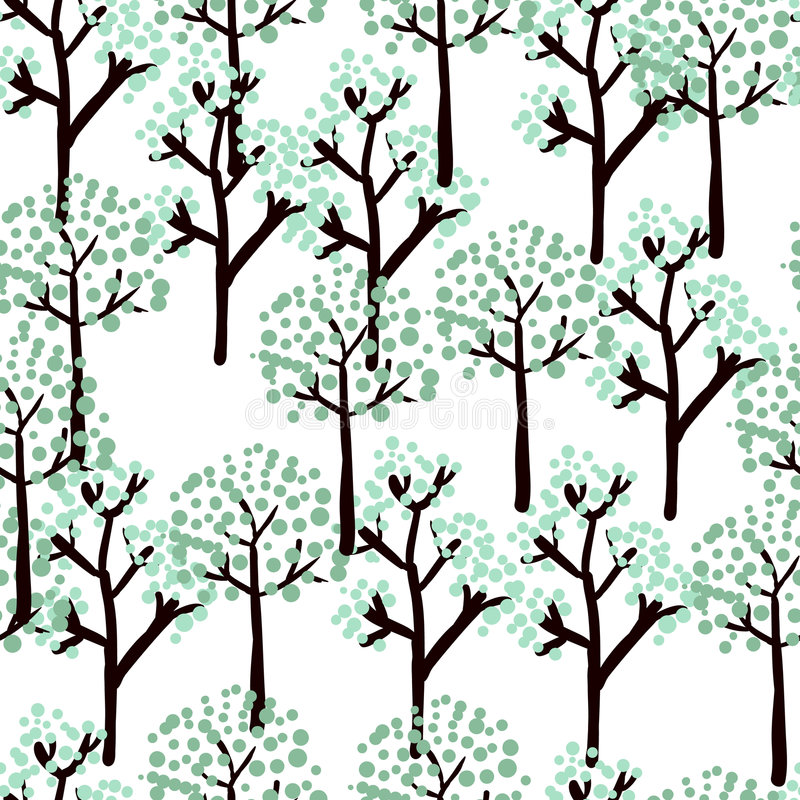 De bomen van de winter vector illustratie
