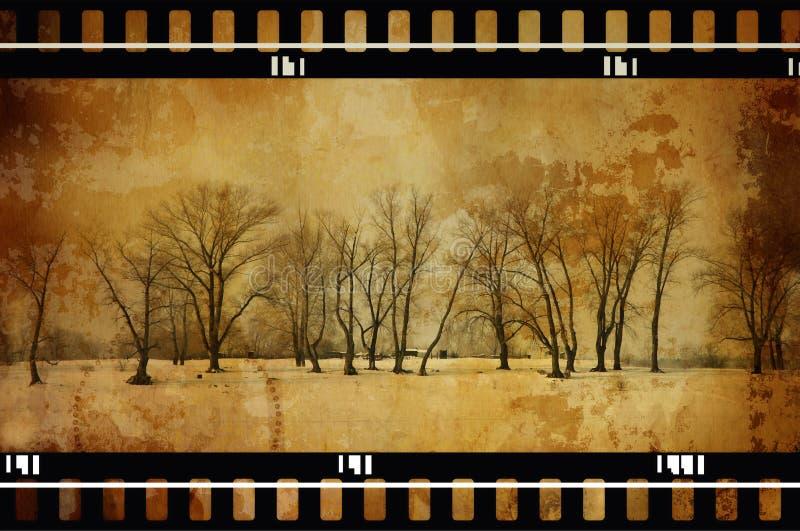De bomen van Grunge stock afbeelding