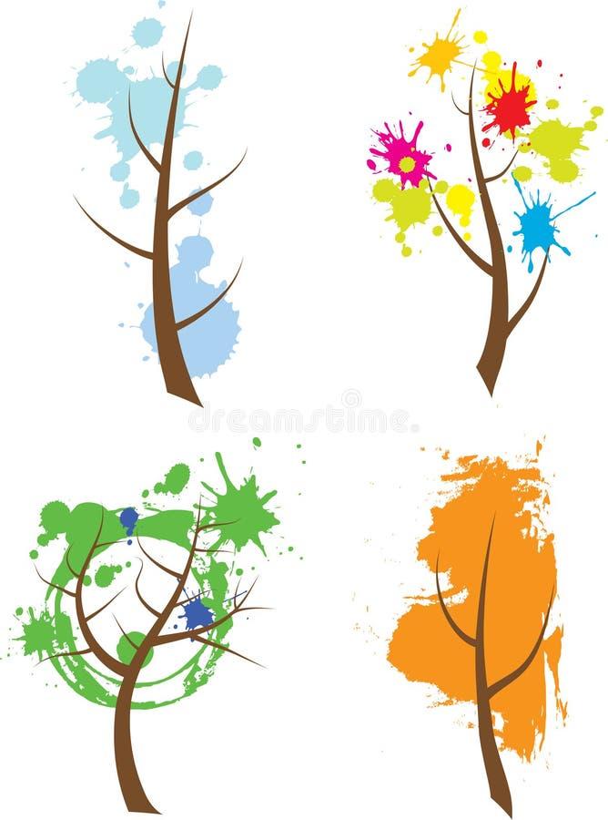 De bomen van het seizoen royalty-vrije illustratie