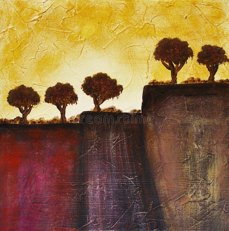 De bomen van Toscanië stock illustratie