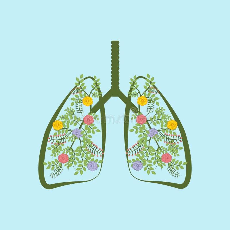 De bomen zijn de longen van de aarde royalty-vrije illustratie