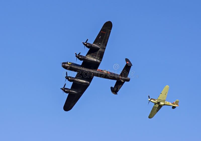 De Bommenwerper en Venter Hurricane Fighter van Lancaster royalty-vrije stock fotografie