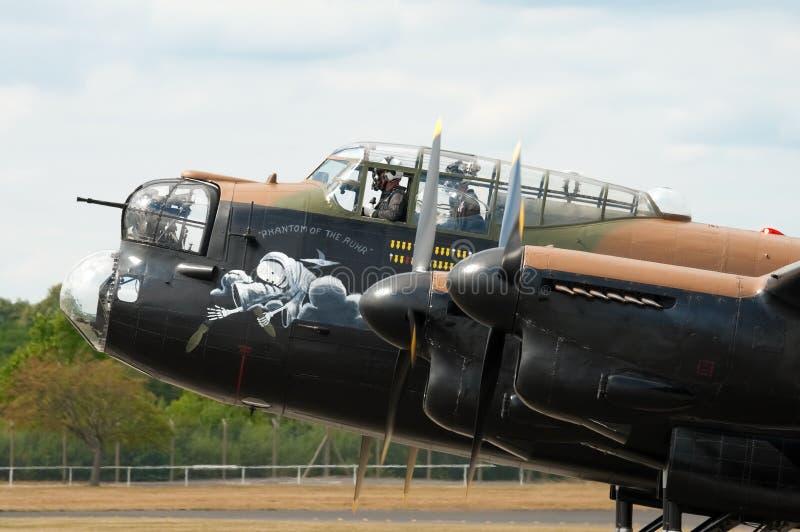 De bommenwerper van Lancaster stock foto's
