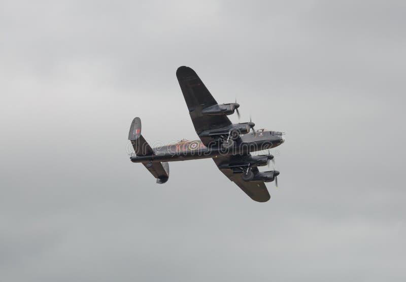 De Bommenwerpersvliegtuig van Lancaster royalty-vrije stock afbeeldingen