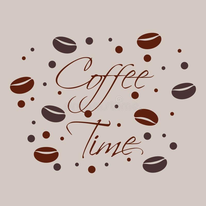 De bonen van de koffie royalty-vrije illustratie