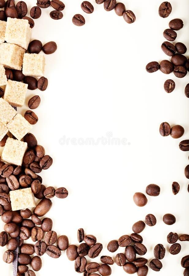 De bonen van de koffie, document, royalty-vrije stock fotografie