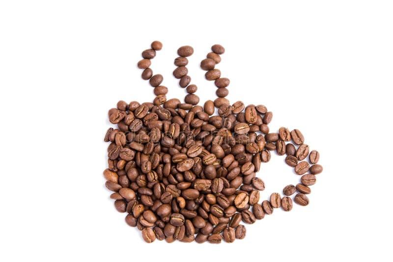 Download De Bonen Van De Koffie In Een Vorm Van Koffiekop Stock Foto - Afbeelding bestaande uit ochtend, ingrediënt: 29508152