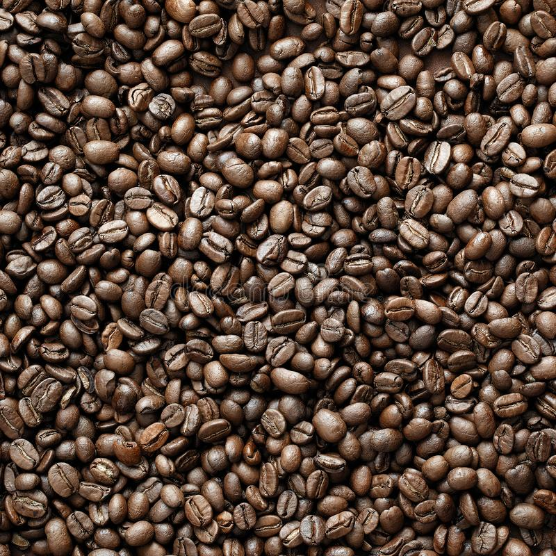 De bonen van de koffie in miljoen royalty-vrije stock afbeeldingen