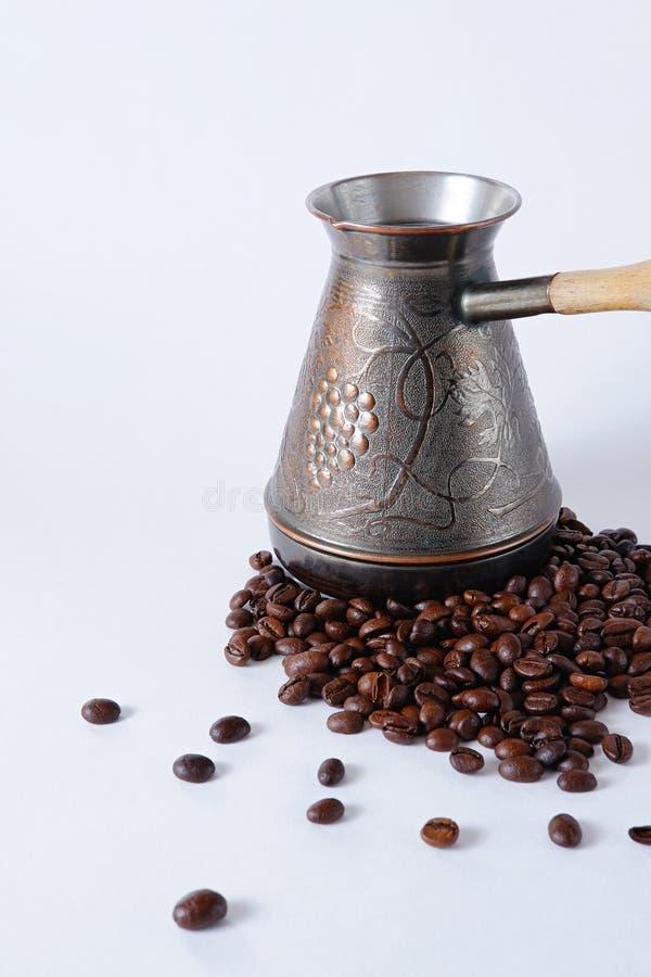 De bonen van Turk en van de koffie stock foto