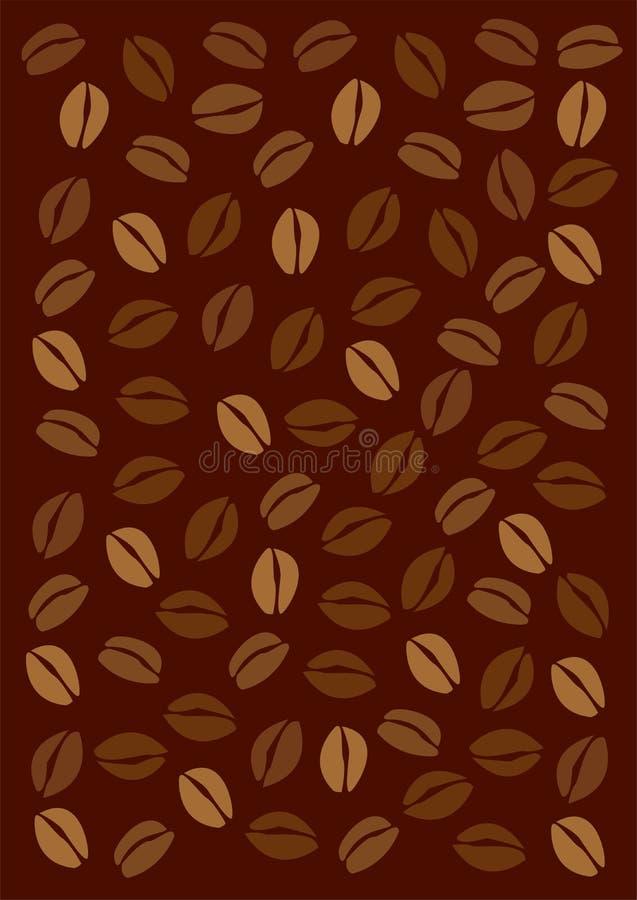 De bonenachtergrond van de koffie vector illustratie