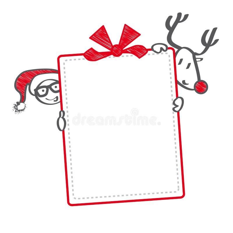 De bonillustratie van de Kerstmisgift royalty-vrije illustratie