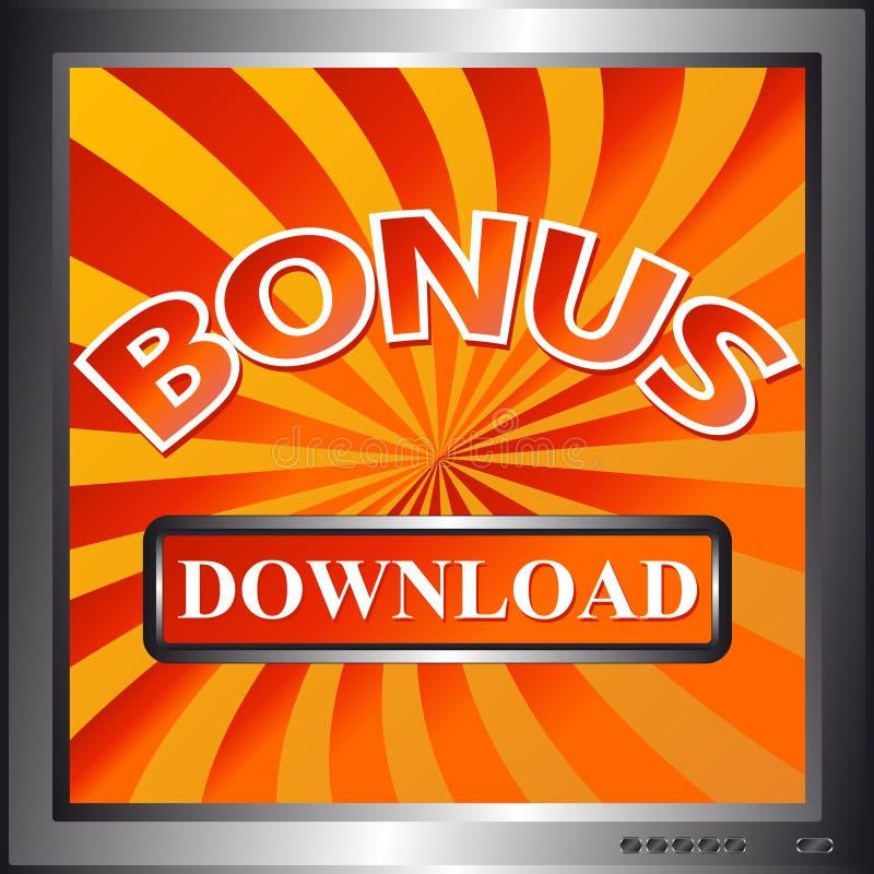De bonuspictogram van de download vector illustratie