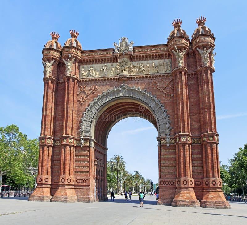 De Boog DE Triomf in Barcelona, Spanje royalty-vrije stock foto