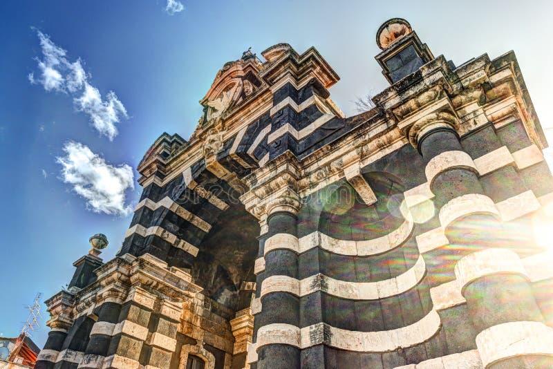 De boog Giuseppe Garibaldi, Catanië, Sicilië stock foto