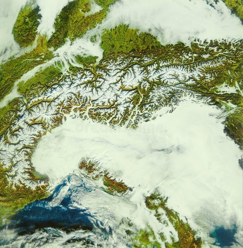 De boog van Alpen stock foto