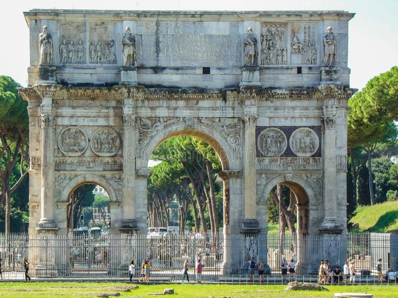 De Boog van Constantine in Rome, Italië royalty-vrije stock fotografie