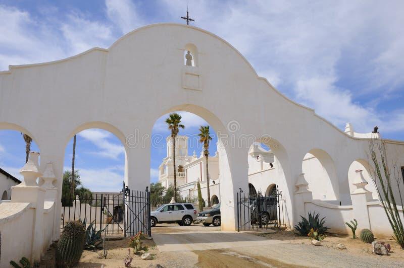 De Boog van de Gateway van San Xavier Del Bac Mission stock foto
