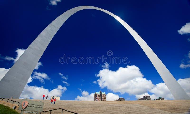 De Boog van de Gateway van St.Louis stock foto