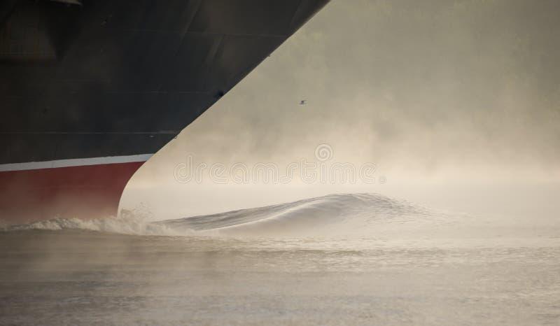 De boog van een schip stock foto's