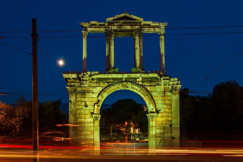 De Boog van Hadrian in Athene, Griekenland royalty-vrije stock afbeeldingen