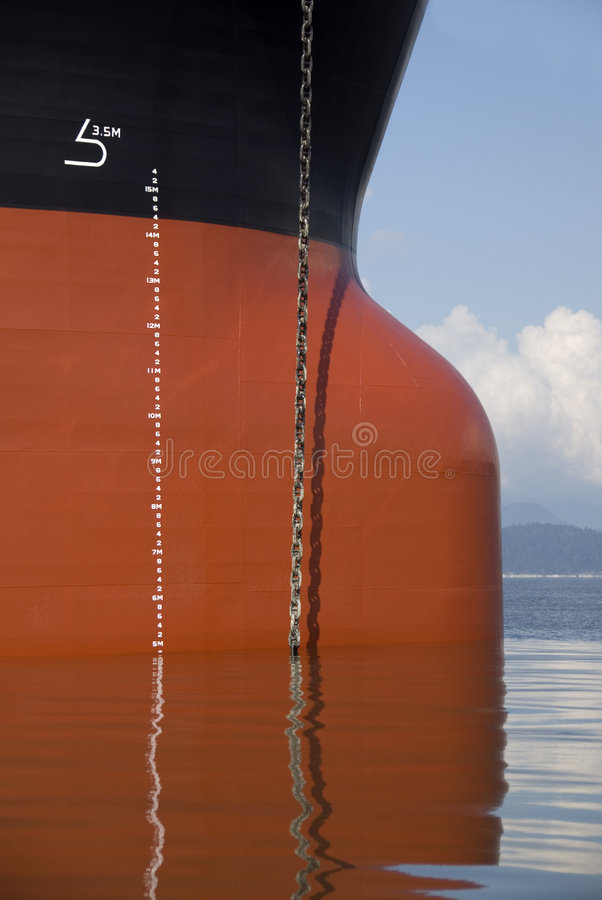 De Boog van het vrachtschip stock afbeeldingen