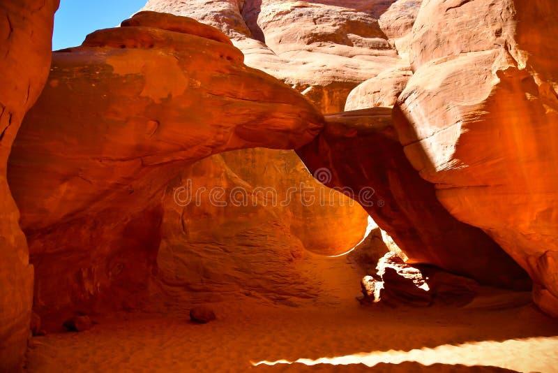 De Boog van het zandduin in Bogen Nationaal Park royalty-vrije stock fotografie