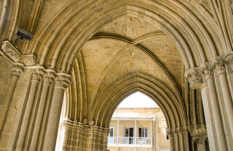 De Boogdetail Lefkosia Cyprus Van De Moskee Stock Fotografie