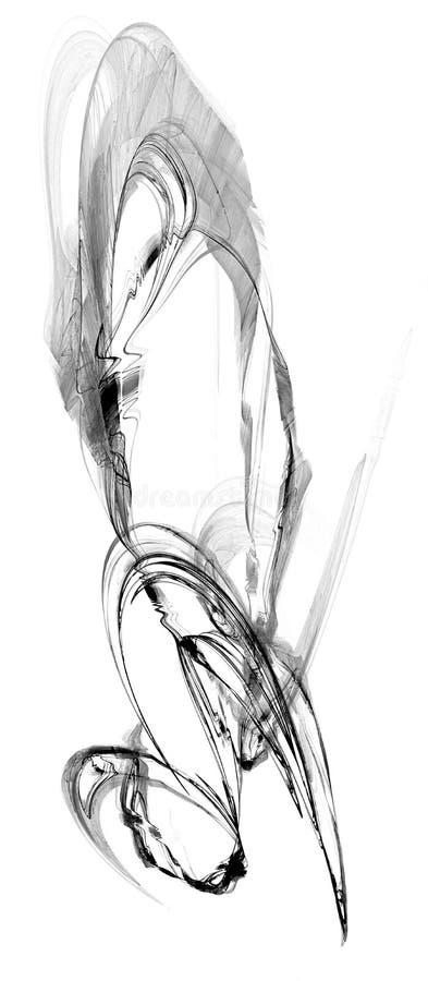 De Boogsamenvatting van de inktplons vector illustratie