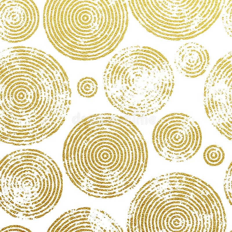 De boom belt gouden naadloos patroon royalty-vrije illustratie