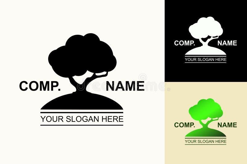 De boom logotype plaatste stock illustratie