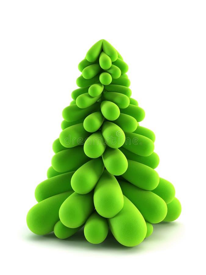 de boom van 3d symbolische Nieuwjaar vector illustratie