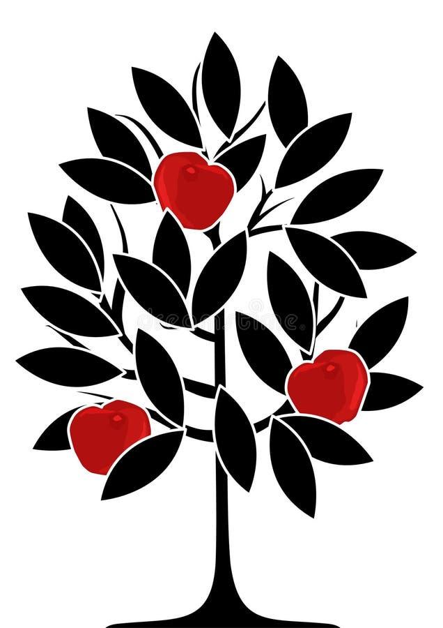 De boom van de appel stock illustratie
