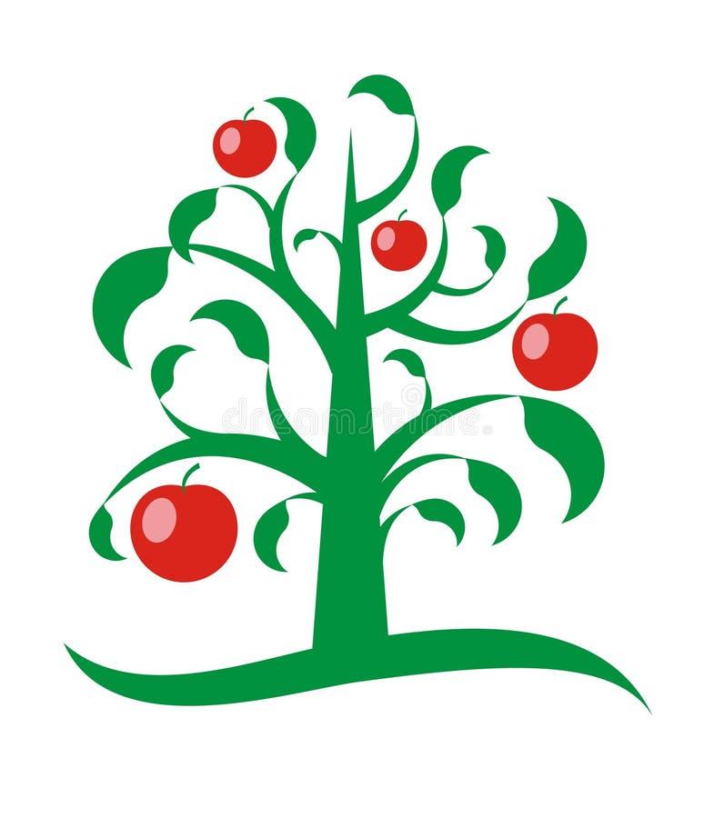 De boom van de appel vector illustratie